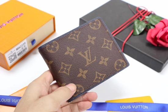 Louis Vuitton Split Monogram Canvas Wallet M62239 brown
