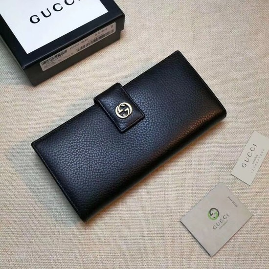 Gucci Calf leather Wallet 337335 black