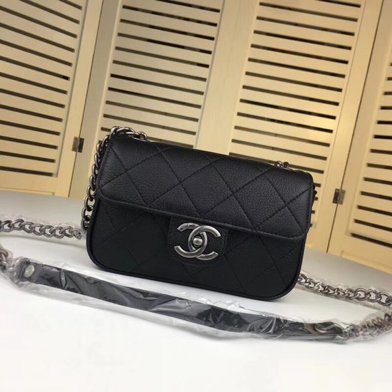 Chanel mini Leather cross-body bag 7739 black