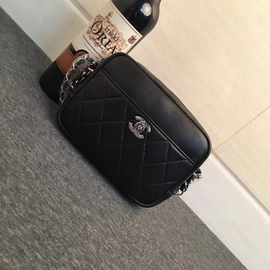 Chanel mini Leather cross-body bag 7738 black