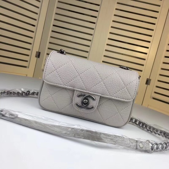 Chanel mini Leather cross-body bag 7739 grey