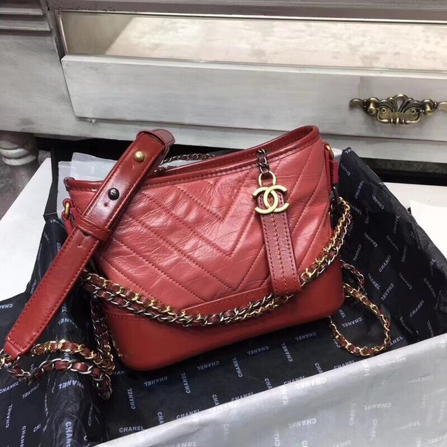 CHANEL GABRIELLE Hobo Bag A93824 RED