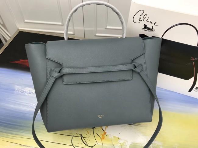 7288568793b4 Celine Belt Bag Original Leather Medium Tote Bag A98311 Blackish green