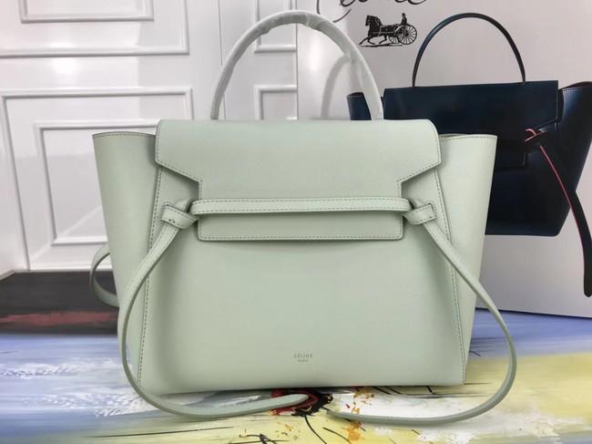 4466b1544b95 Celine Belt Bag Original Leather Medium Tote Bag A98311 Peppermint Green
