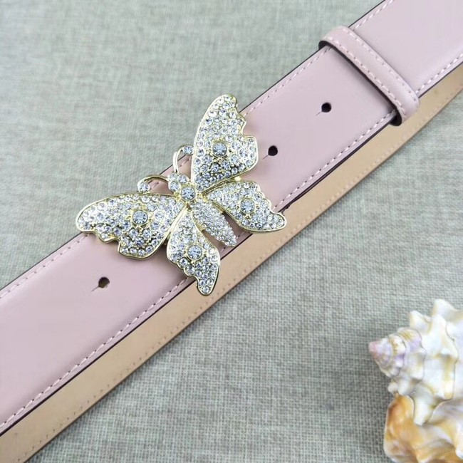 0335bec255f Gucci leather belt with butterfly 499553 pink -  139.00