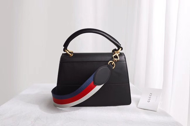 00533a67d5fe36 Gucci Queen Margaret small top handle bag 476541 Black - $329.00