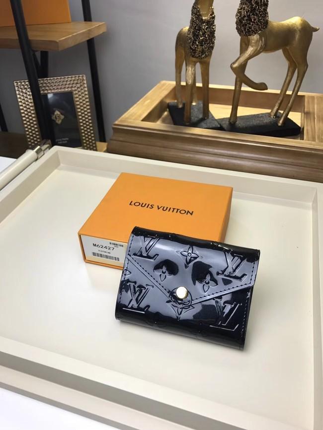 Louis Vuitton Monogram Vernis VICTORINE WALLET M62427 black