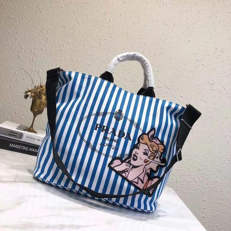 Prada fabric handbag 1BG161