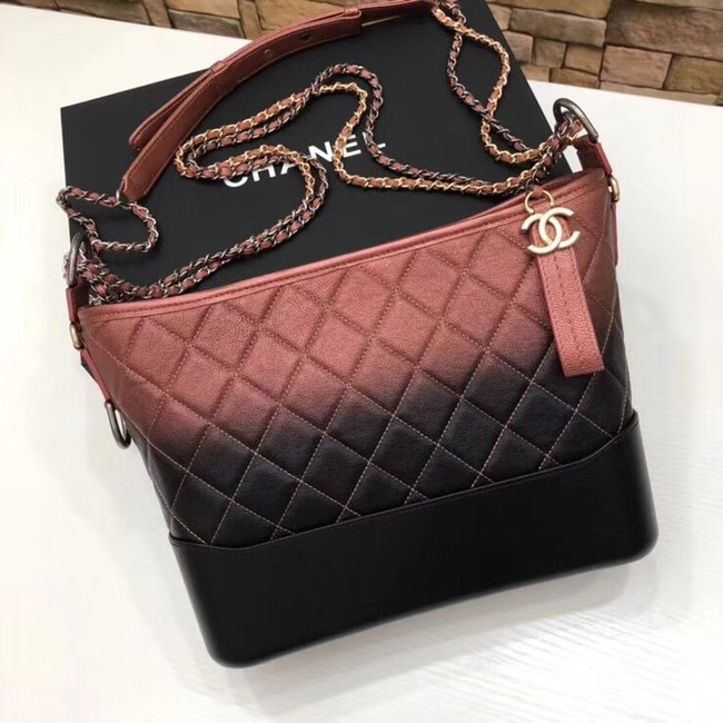 CHANEL GABRIELLE Hobo Bag A93824 red&black