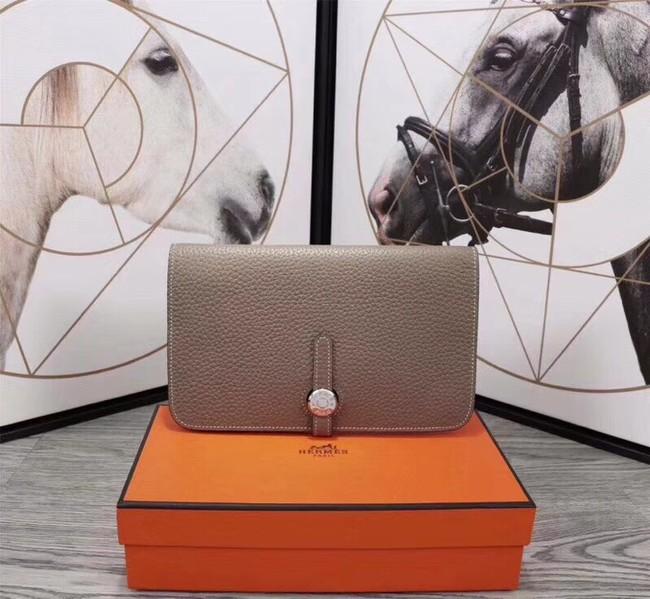 Hermes Original togo leather wallet A3359 grey