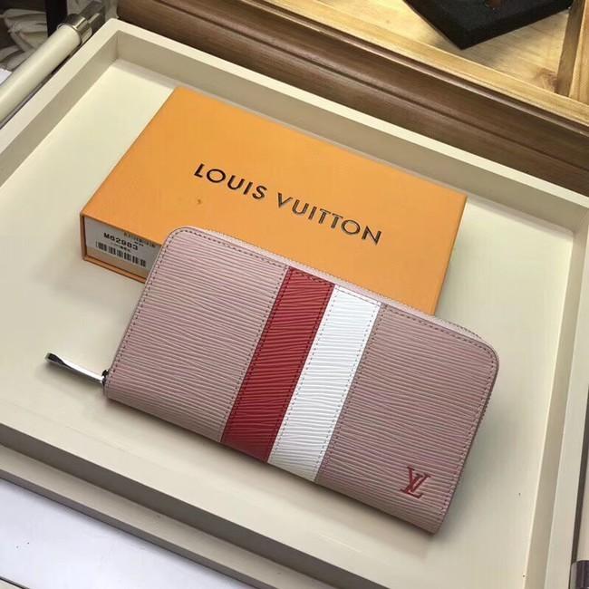 Louis Vuitton original Epi leather ZIPPY WALLET M62983 pink