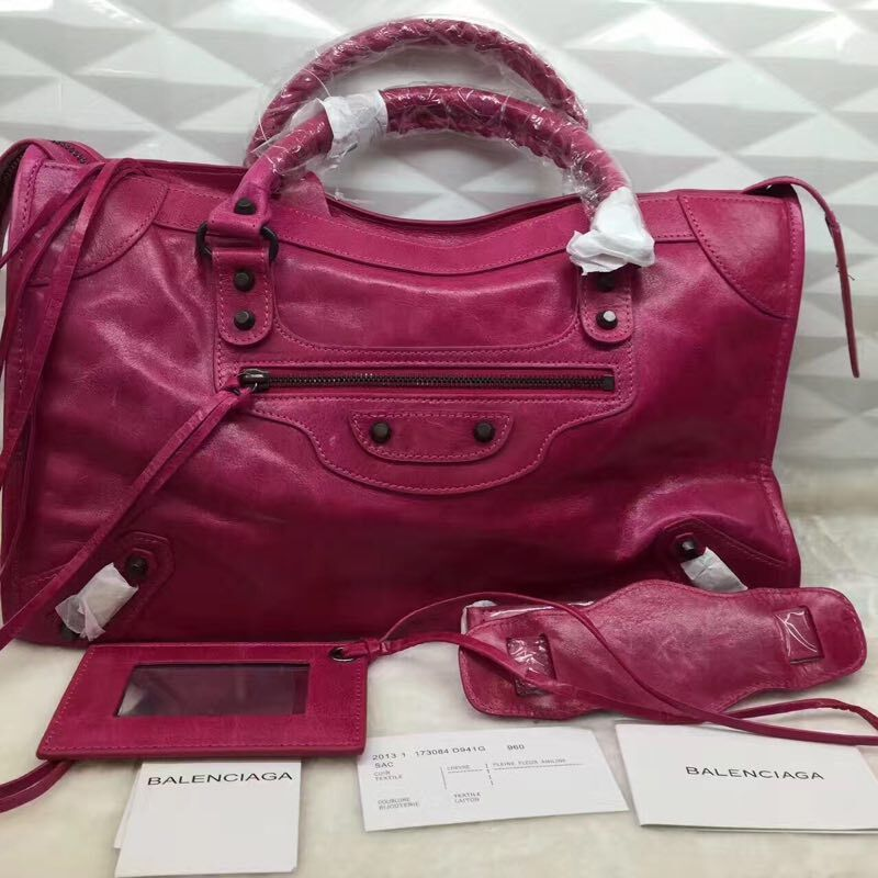 Balenciaga The City Handbag 084332 rose