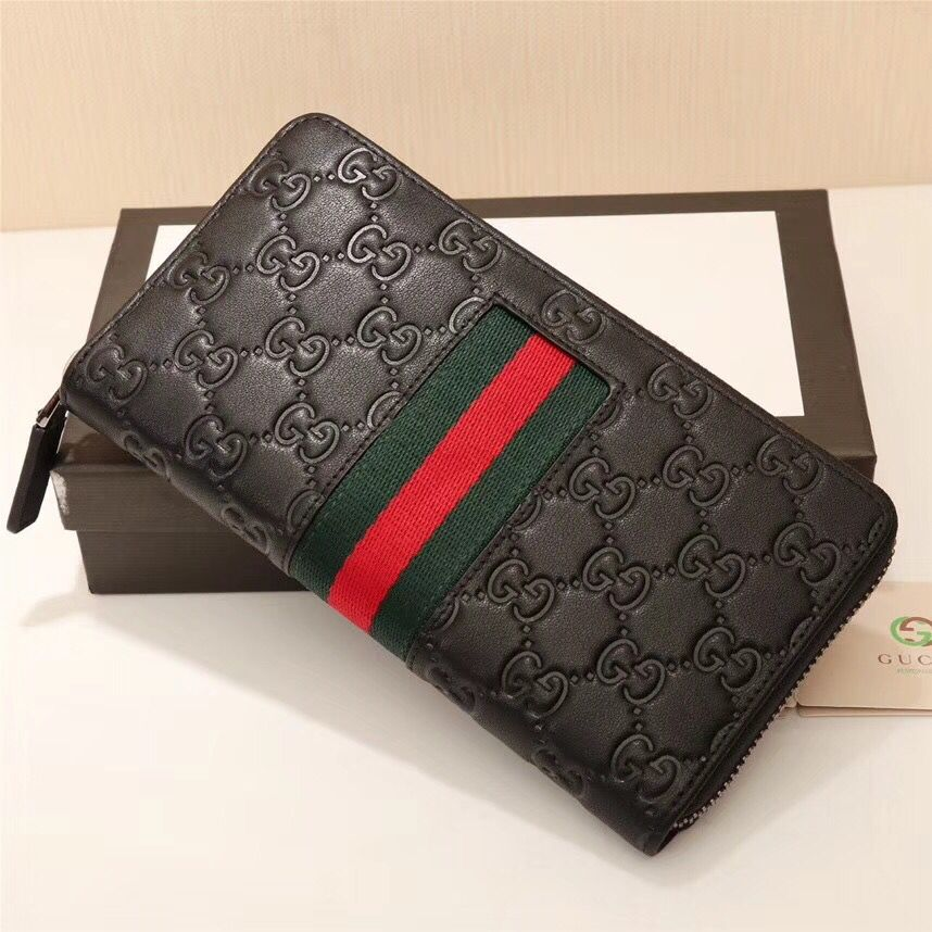 Gucci Bree Guccissima Leather Wallet 688681 Black