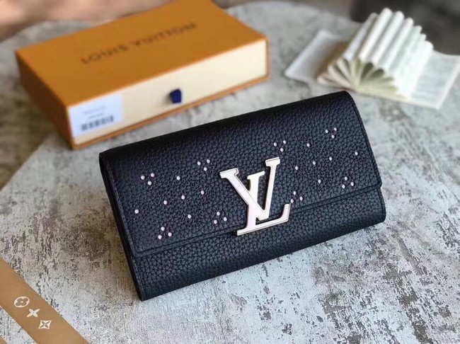 Louis Vuitton original CAPUCINES WALLET M62556 black