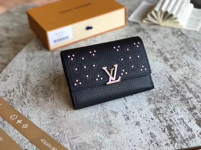 Louis Vuitton original CAPUCINES COMPACT WALLET M62564 black