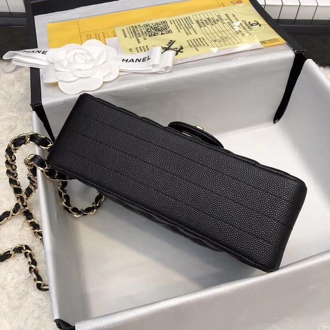 1c51350eab9a Chanel Small Classic Handbag Grained Calfskin   Gold-Tone Metal A69900 black