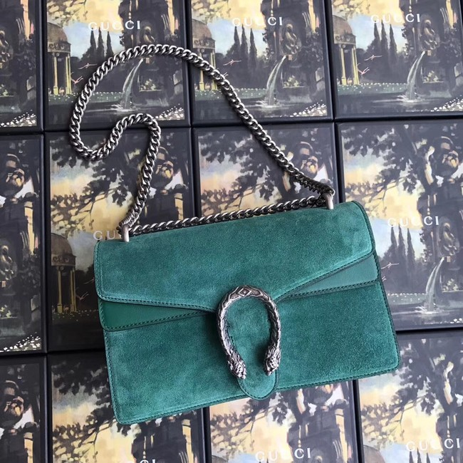 Gucci Dionysus GG Original Shoulder Bag suede 400249 green