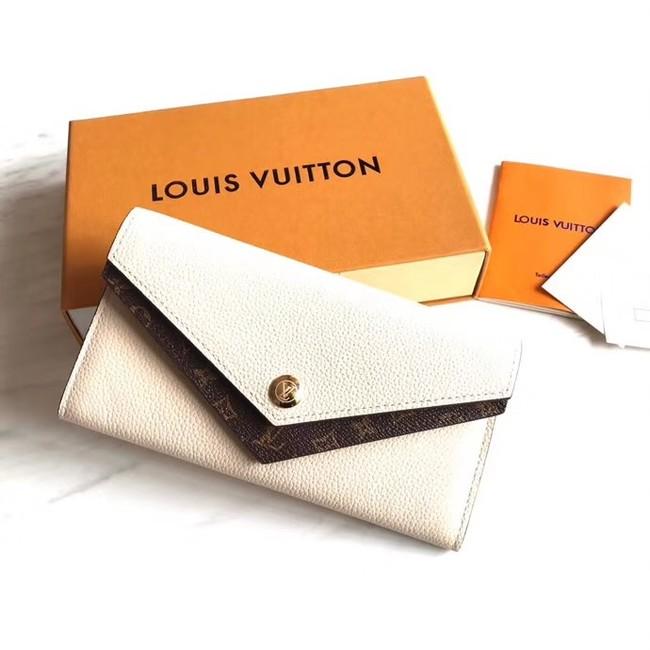 Louis vuitton MONOGRAM DOUBLE wallet M64317 white