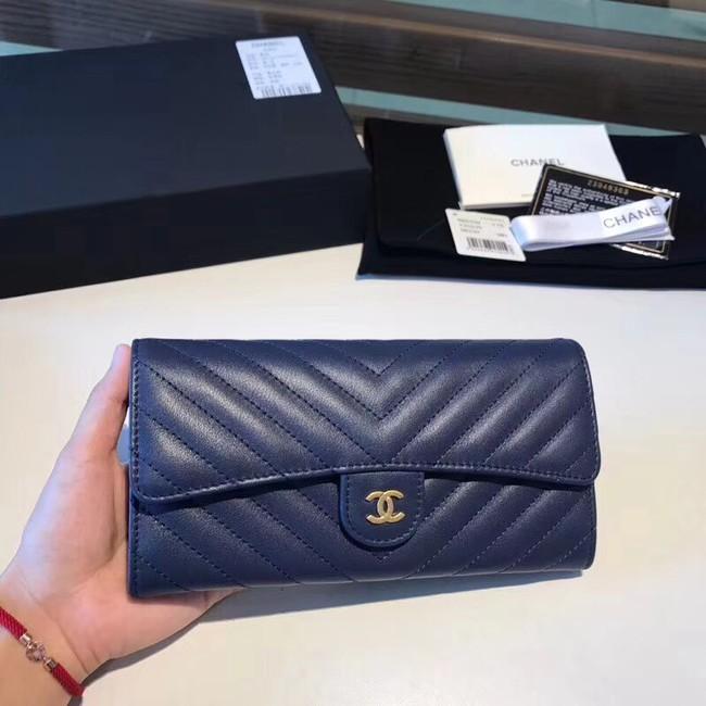 Chanel Classic Flap Wallet A80758 Blue
