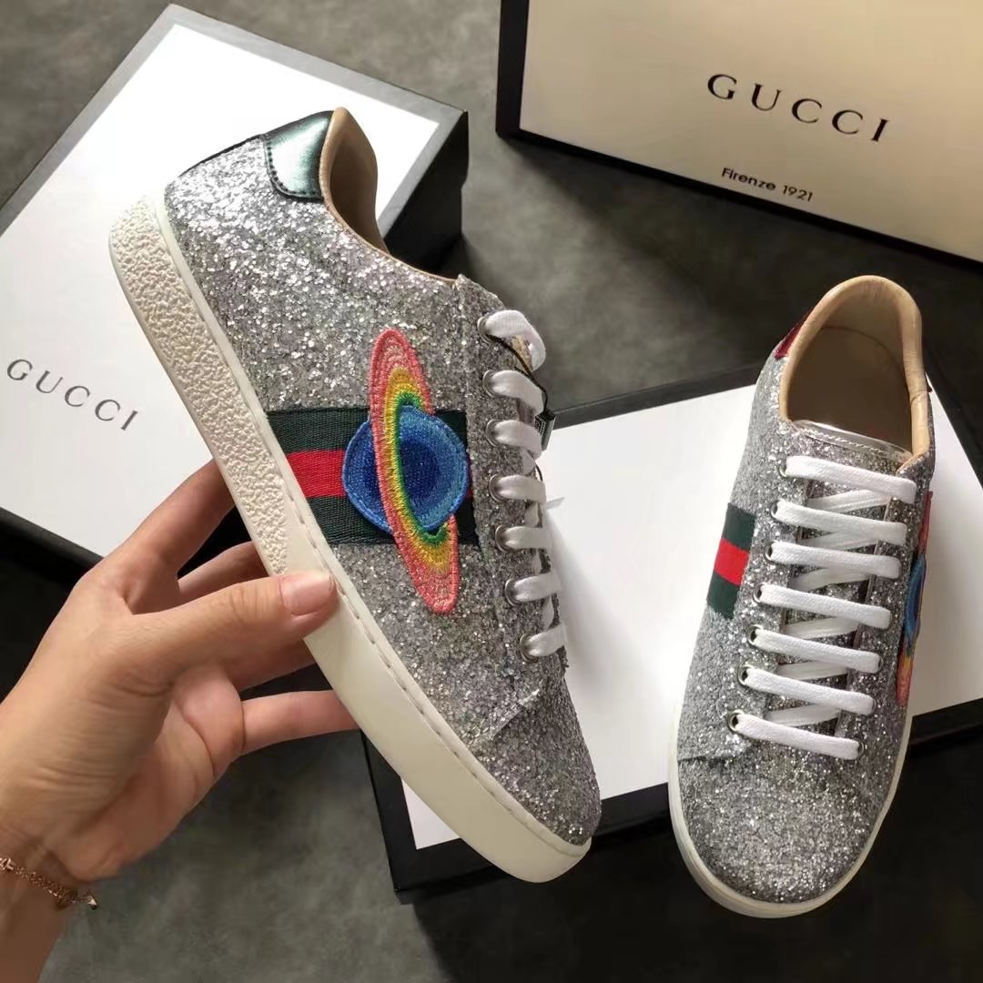 Gucci lady Casual shoes GG1317H silver
