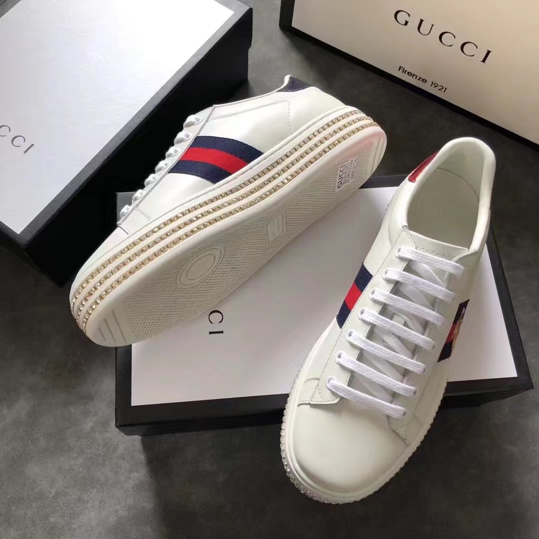 Gucci lady Casual shoes GG1317H white
