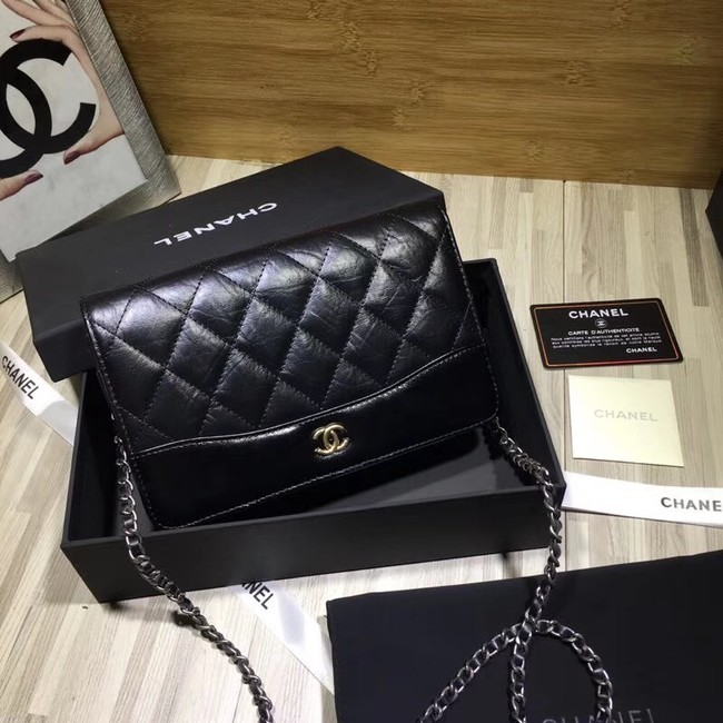 CHANEL GABRIELLE Clutch with Chain A33814 black