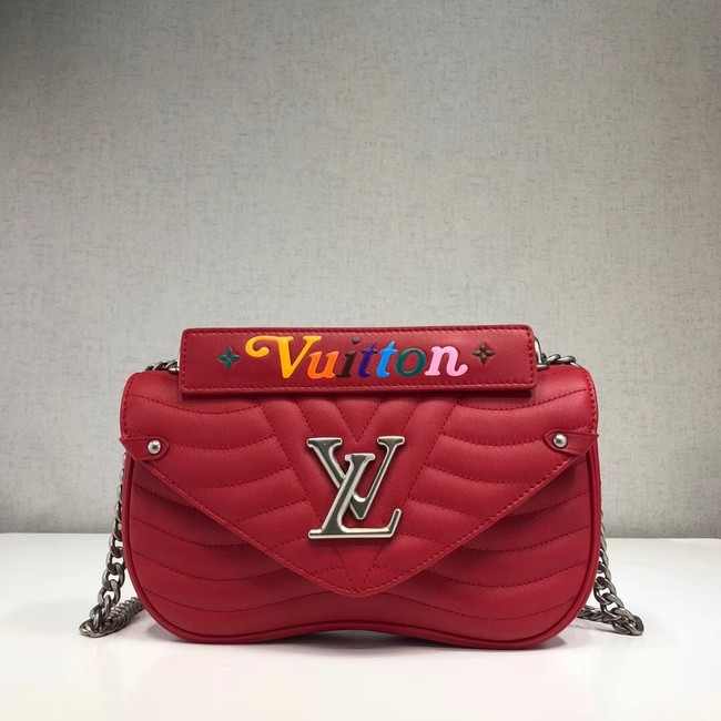 LOUIS VUITTON NEW WAVE CHAIN BAG MM M51943 red