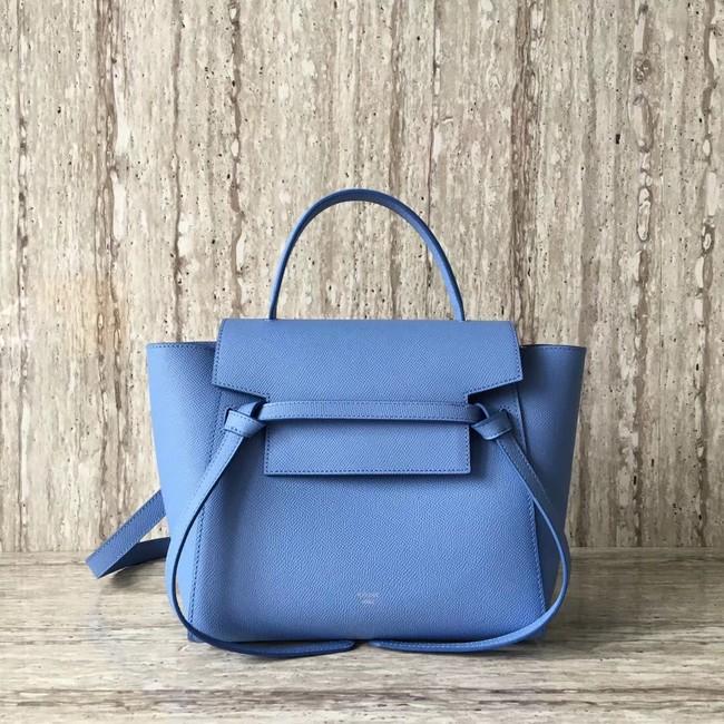 Celine mini Belt Bag Original Calf Leather A98310 sky blue 9904747351531