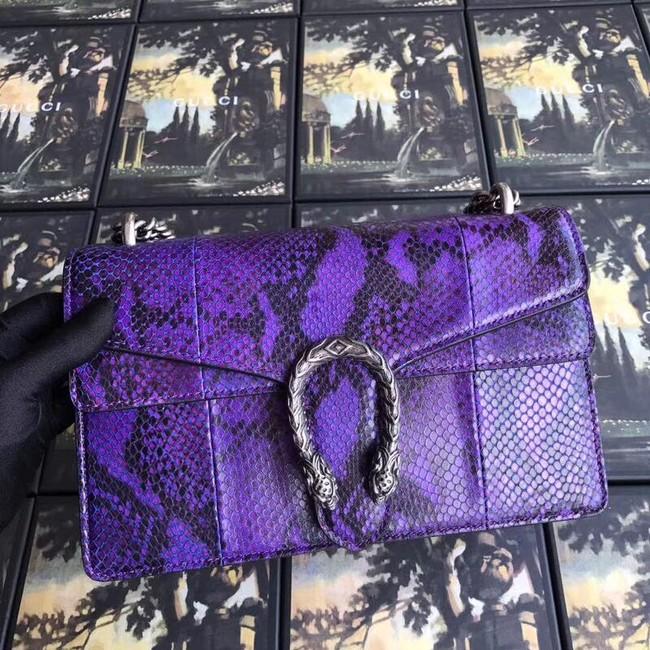 Gucci Dionysus medium python shoulder bag 403348 purple