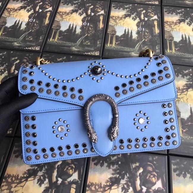 Gucci Dionysus Canvas Shoulder Bag B400249 blue