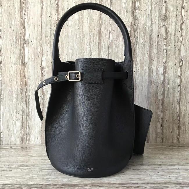 CELINE BIG BAG BUCKET IN SUPPLE GRAINED CALFSKIN 55427 black
