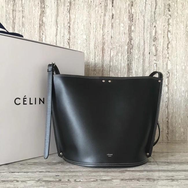 CELINE CLASP BUCKET IN SMOOTH CALFSKIN 55423 black