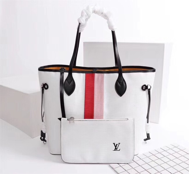 Louis Vuitton Neverfull Epi Leather MM 53763 white