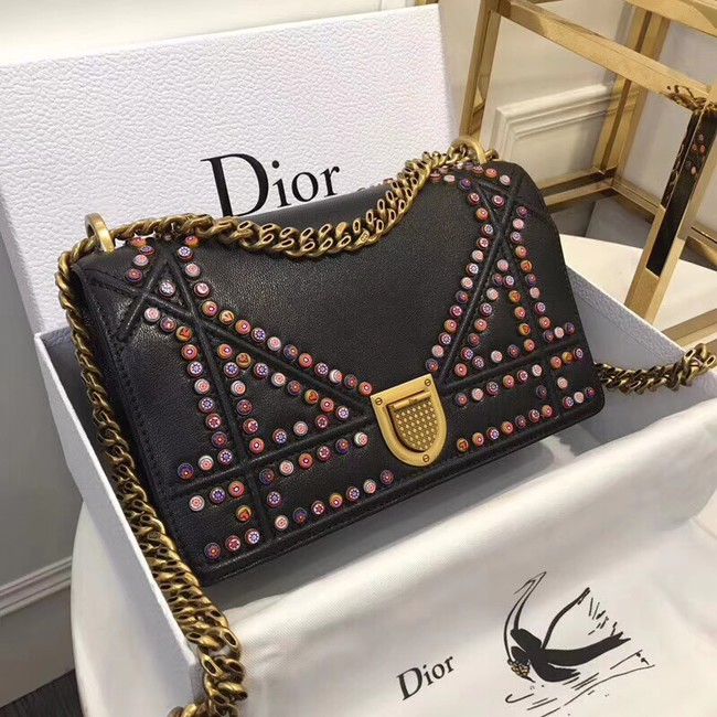 Dior SMALL DIORAMA BAG CALFSKIN M0422 black