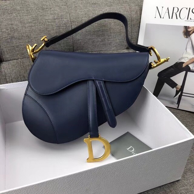 Dior MINI SADDLE BAG CALFSKIN M0447 dark blue