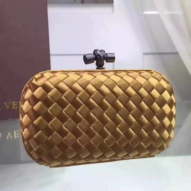 Bottega Veneta Japanese Silk ribbon Clutch 0312 Gold
