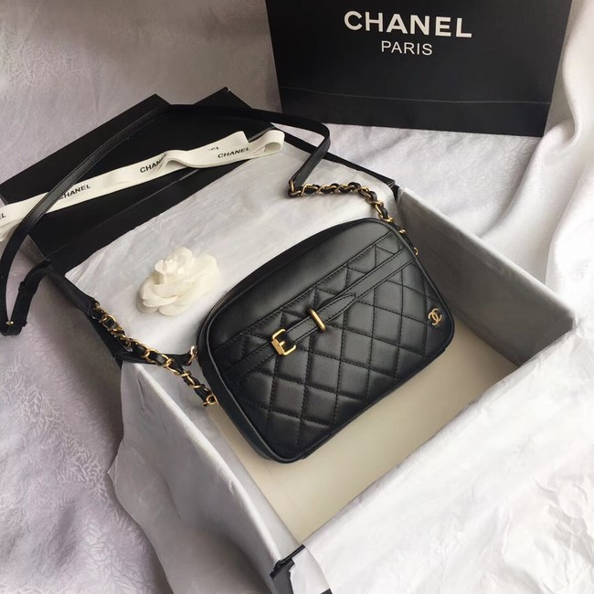 Chanel Original Camera Case Calfskin & Gold-Tone Metal A57659 Black