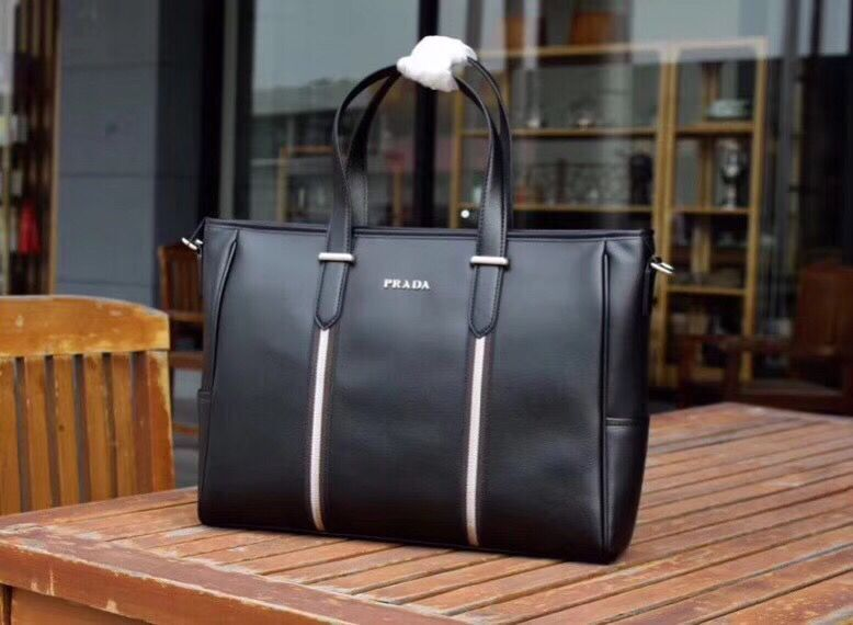 Prada Saffiano Leather Tote Bags PD0123 Black