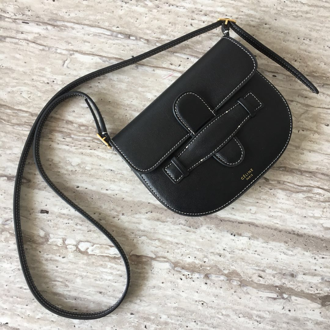 Celine Original Leather mini Shoulder Bag 3694 black
