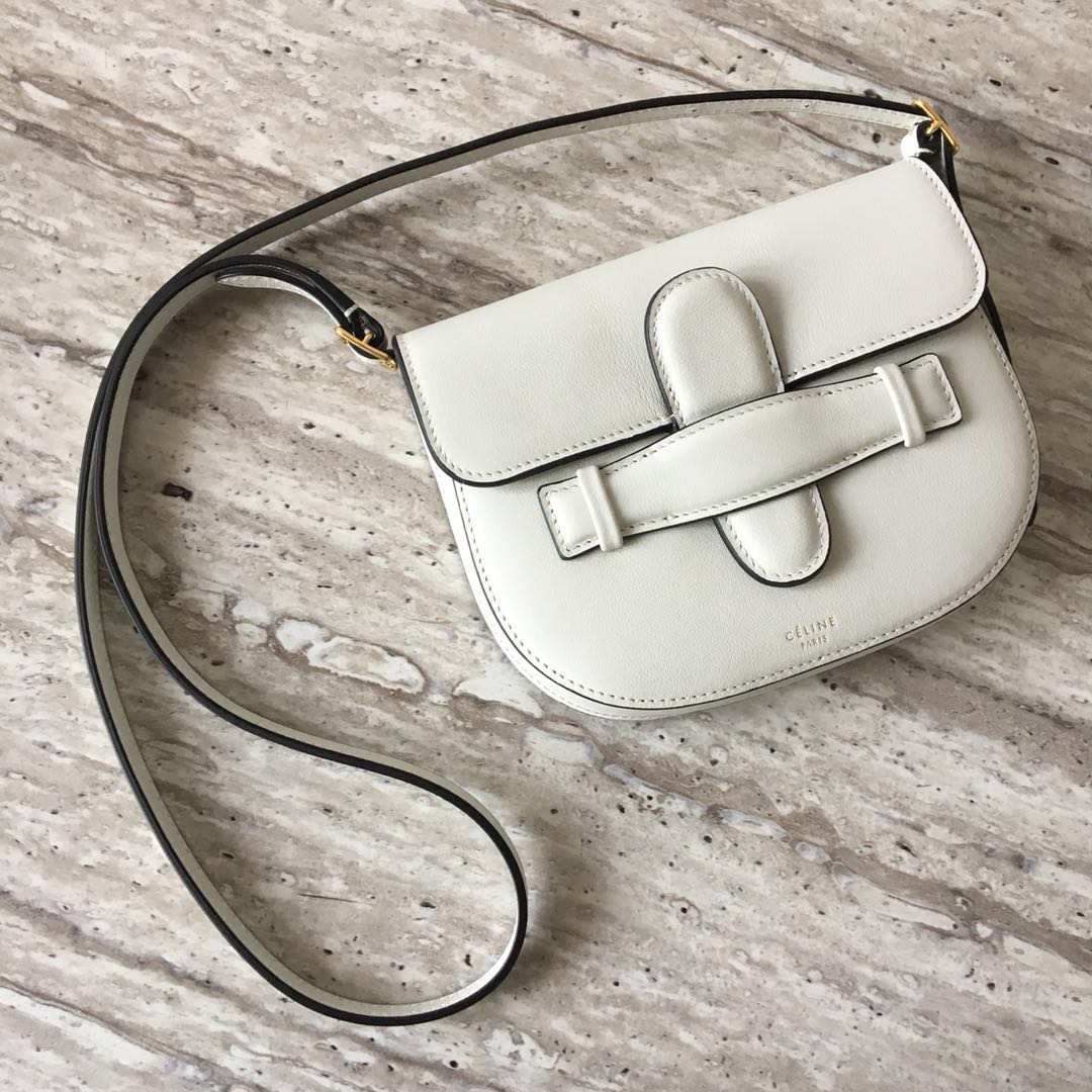 Celine Original Leather mini Shoulder Bag 3694 WHITE