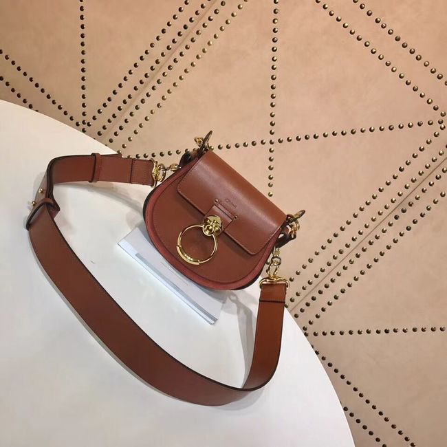 CHLOE Tess Small leather shoulder bag 3E153 camel