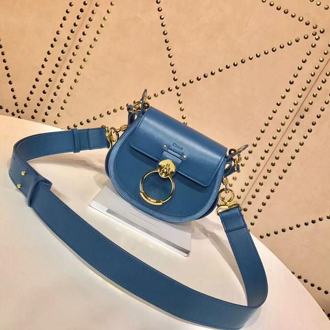 CHLOE Tess Small leather shoulder bag 3E153 blue