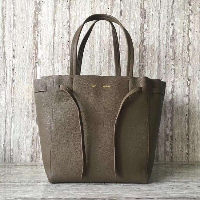 CELINE SMALL CABAS PHANTOM IN SOFT GRAINED CALFSKIN 17602 grey