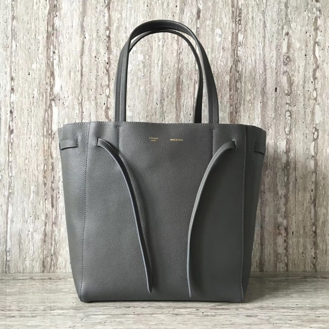 CELINE SMALL CABAS PHANTOM IN SOFT GRAINED CALFSKIN 17602 dark grey