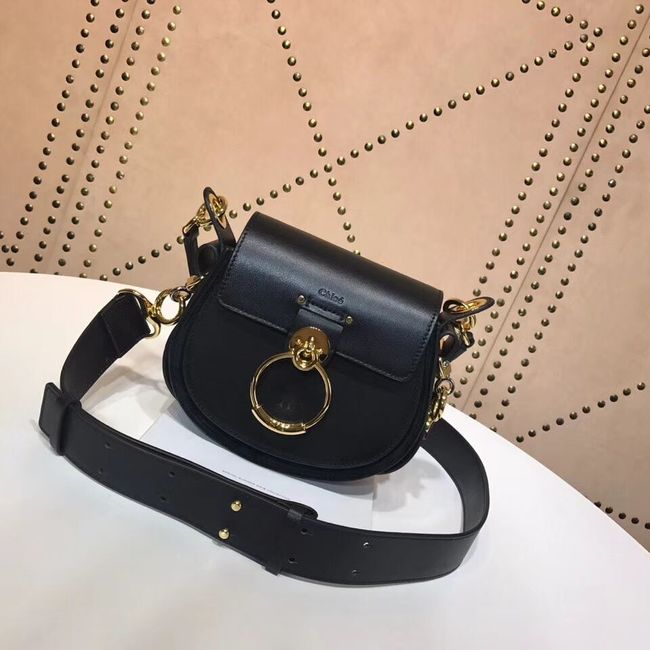 CHLOE Tess Small leather shoulder bag 3E153 black