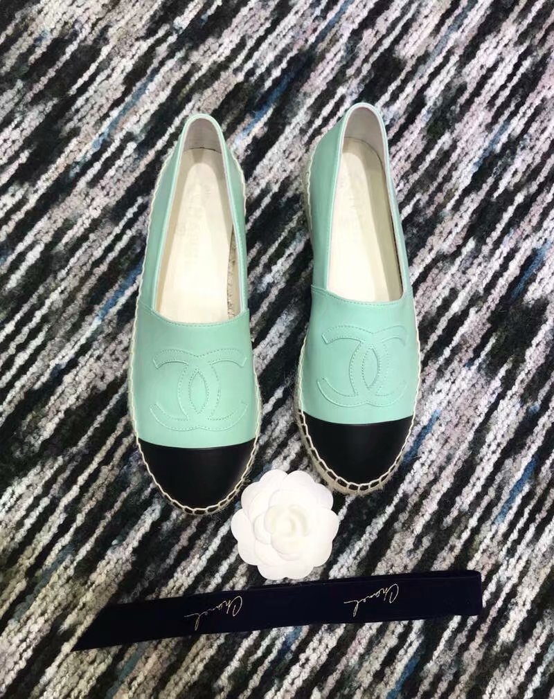 Chanel Espadrilles Lambskin shoes CH2439LRF green
