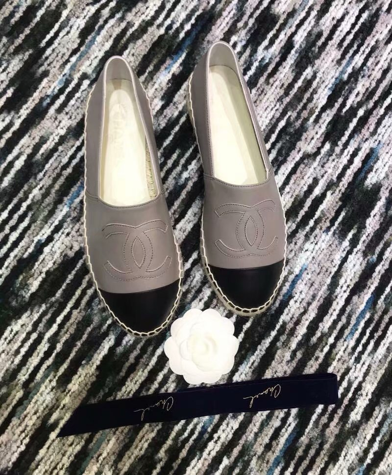 Chanel Espadrilles Lambskin shoes CH2439LRF grey
