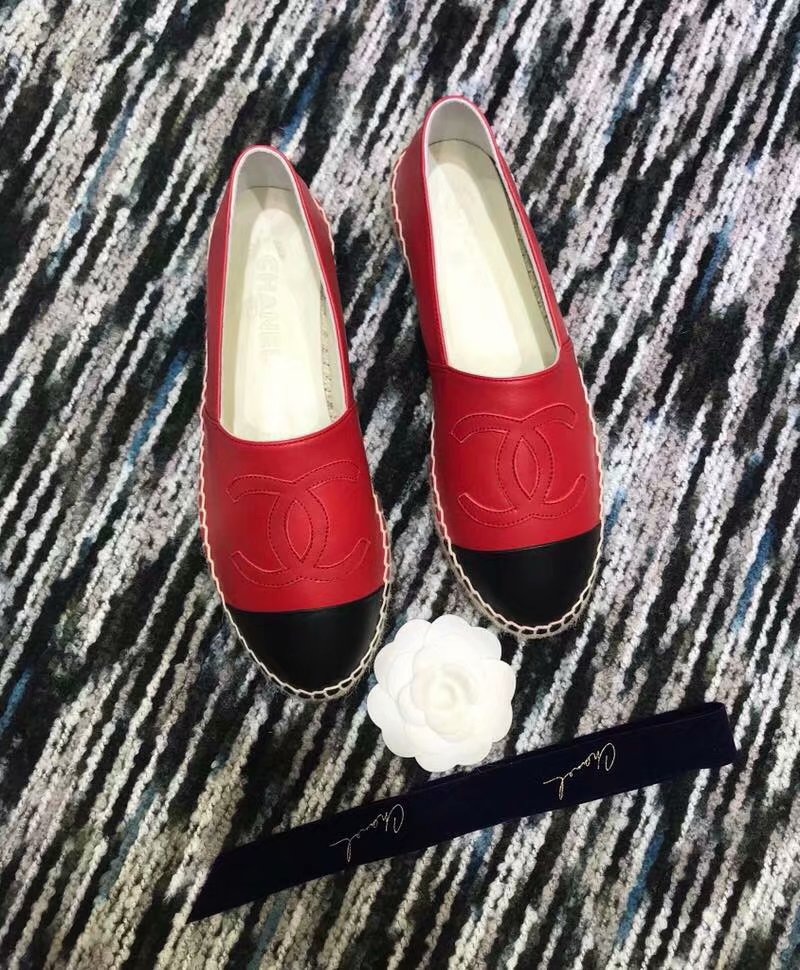 Chanel Espadrilles Lambskin shoes CH2439LRF red