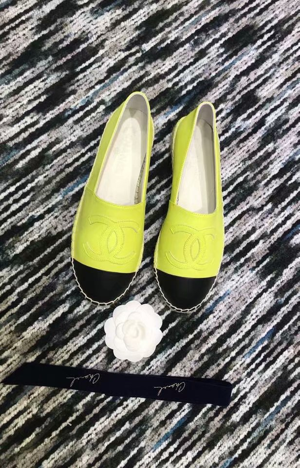 Chanel Espadrilles Lambskin shoes CH2439LRF lemon