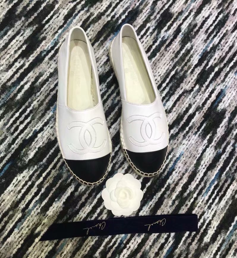 Chanel Espadrilles Lambskin shoes CH2439LRF white